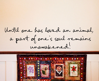Until Loved Animal Soul Unawakened Wall Decal