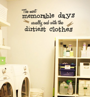 The Most Memorable Days Laundry Decal