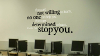 Determined To Learn Wall Decal