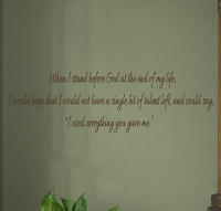 Everything You Gave Me Wall Decal