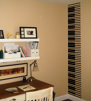 Piano Keys Wall Runner Decal