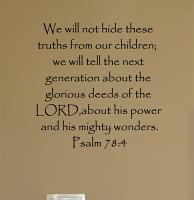 Children Truths Wall Decal