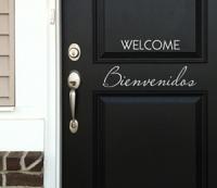 Welcome Bienvenidos Decal