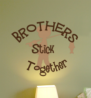Brothers Stick Together Wall Decals