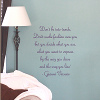 Gianni Quote Wall Decal