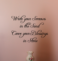 Carve Your Blessings Wall Decal