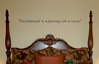Development Is A Journey Wall Decals