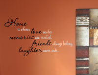 Home Love Memories Wall Decal