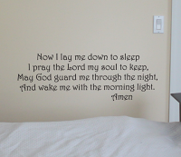 Lay Me Down To Sleep Wall Decal