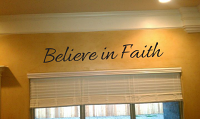 Believe in Faith Wall Decal
