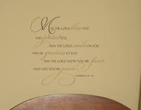May Lord Bless And Protect You Wall Decal