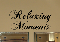Relaxing Moments Wall Decal