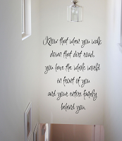 Know That When You Walk Wall Decal