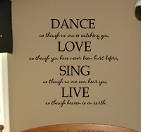 Dance Love Sing Live Wall Decal