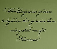 Manifest Abundance Wall Decals
