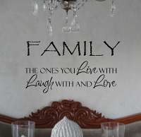 Family Ones You Live Laugh Love Wall Decal