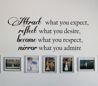 Attract What You Expect Wall Decal