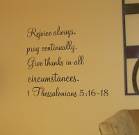 Rejoice Always Wall Decal