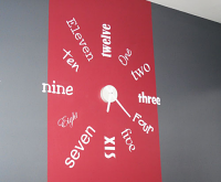 One To Twelve Wall Decal