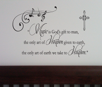 Music Art Of Heaven Wall Decal