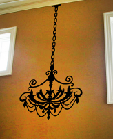 Chandelier 5 Light Wall Decal
