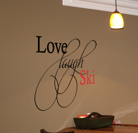Love Laugh Ski Decal
