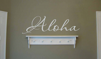 Script Aloha Wall Decal