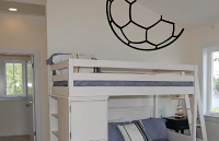 Soccer Ball Half Outline Wall Decal