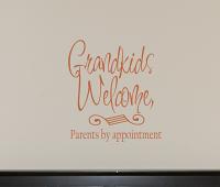 Grandkids Welcome Wall Decals