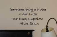 Brother Superhero Wall Decals