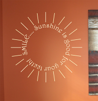 Smile Sunshine Good For Teeth Wall Decals