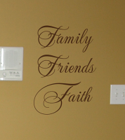 Family Friends Faith Wall Decal