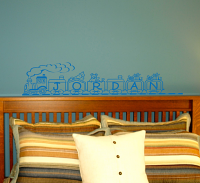 Toy Train Name Wall Decals