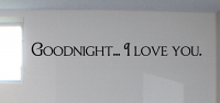 Goodnight I Love You Wall Decals