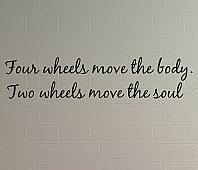 Two Wheels Move Soul Wall Decals