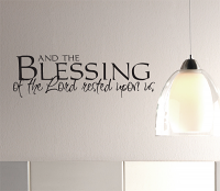Blessing of the Lord Wall Decal