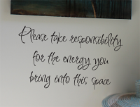 Responsibility For Energy Wall Decal