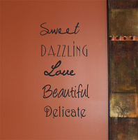 Sweet Dazzling Love Beautiful Delicate Wall Decal