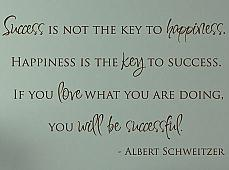 Success Not Key To Happiness Wall Decals