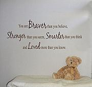 Braver Stronger Smarter Loved 2 Wall Decals