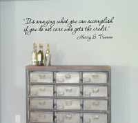 Harry S. Truman Quote Wall Decal