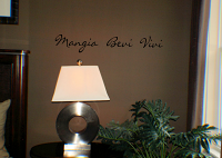 Mangia Bevi Wall Decal