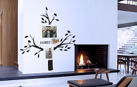 Family Photo Tree 6 With Swirls Wall Decal