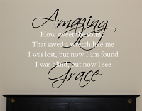 Amazing Grace Wall Decal