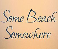 Some Beach Wall Decal