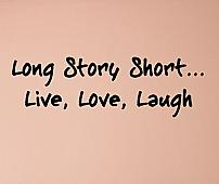 Long Story Short II Wall Decals