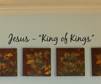 Jesus King Of Kings Wall Decals