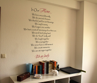 Our Family We Wall Decal