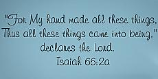 For My Hand Made (Isaiah 66) Wall Decal