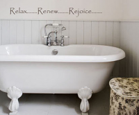 Relax Renew Rejoice Wall Decal